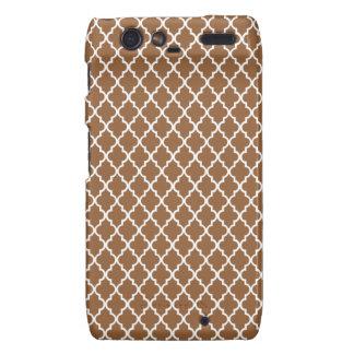 Brown Quatrefoil Motorola Droid RAZR Case