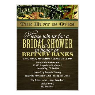 """Brown que caza invitaciones nupciales de la ducha invitación 4.5"""" x 6.25"""""""
