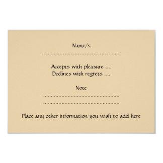 Brown Rabbit 3.5x5 Paper Invitation Card