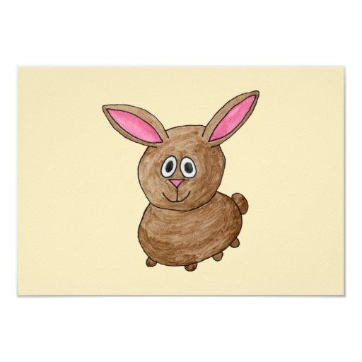 Brown Rabbit. 3.5x5 Paper Invitation Card