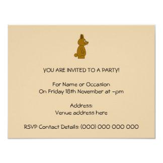 Brown Rabbit 4.25x5.5 Paper Invitation Card