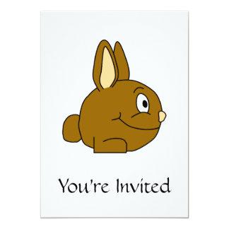 Brown Rabbit Cartoon 5x7 Paper Invitation Card