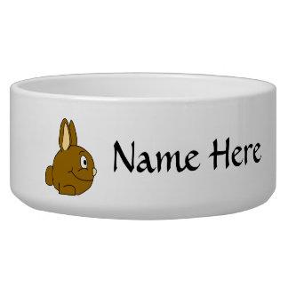 Brown Rabbit Cartoon Bowl