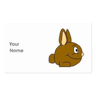 Brown Rabbit Cartoon Business Card