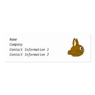 Brown Rabbit Cartoon Mini Business Card