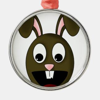 Brown Rabbit Character Metal Ornament