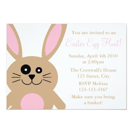 Brown Rabbit Easter Egg Hunt Invitations