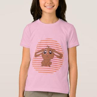 Brown Rabbit Girls Ringer T-Shirt