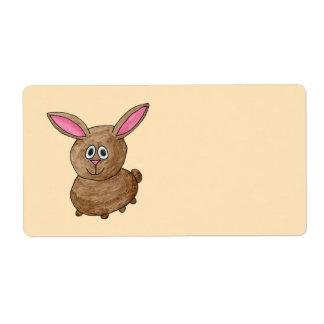 Brown Rabbit. Shipping Label