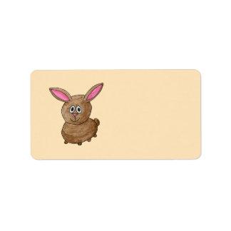 Brown Rabbit. Address Label