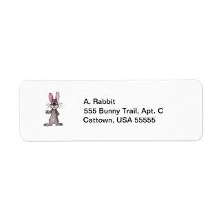 Brown Rabbit Return Address Label