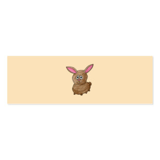 Brown Rabbit. Mini Business Card