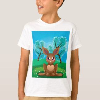 Brown Rabbit on Lawn2 T-Shirt