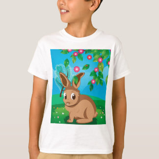 Brown Rabbit on Lawn T-Shirt
