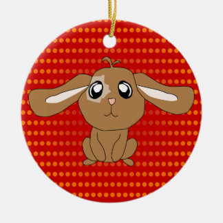 Brown Rabbit Ornament
