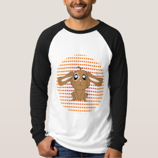 Brown Rabbit Ringer Long Sleeve T-Shirt