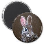 Brown Rabbit Round Magent Refrigerator Magnet