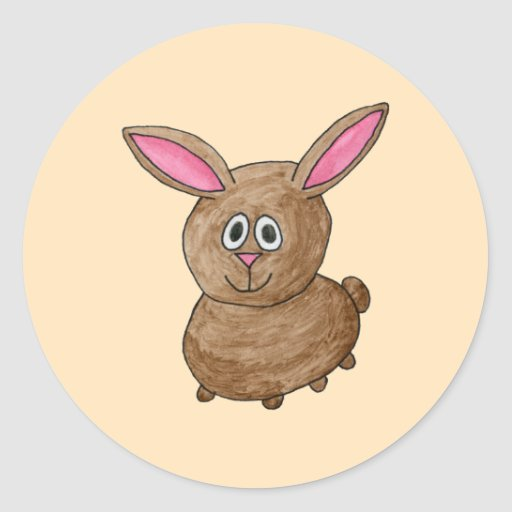 Brown Rabbit. Sticker