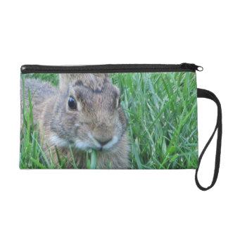 Brown Rabbit Wristlet Purse