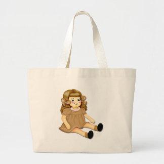 Brown Rag Doll Canvas Bags