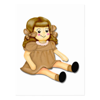Brown Rag Doll Post Cards