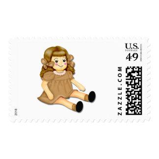 Brown Rag Doll Postage Stamp
