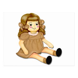 Brown Rag Doll Postcard