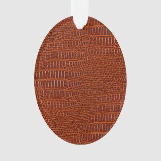 Brown Realistic Alligator Skin Look