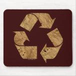 Brown recicla la muestra tapete de raton