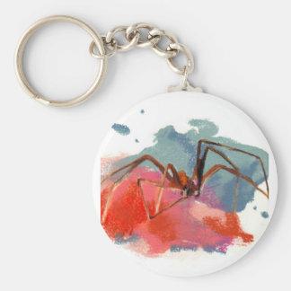 Brown Recluse Spider Basic Round Button Keychain