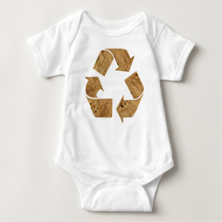 Brown Recycle Sign Baby Bodysuit