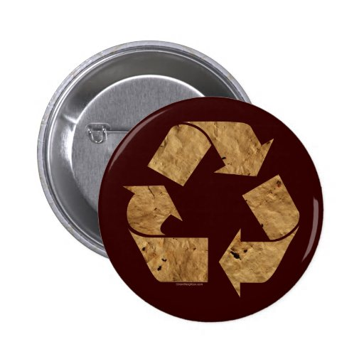 Brown Recycle Sign Pin
