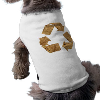 Brown Recycle Sign Dog T Shirt