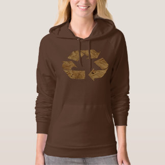 Brown Recycle Sign Hoodie