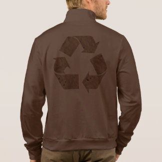 Brown Recycle Sign Jacket