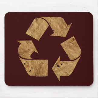 Brown Recycle Sign Mouse Pad