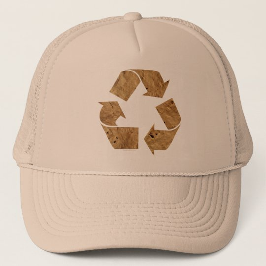 Brown Recycle Sign Trucker Hat