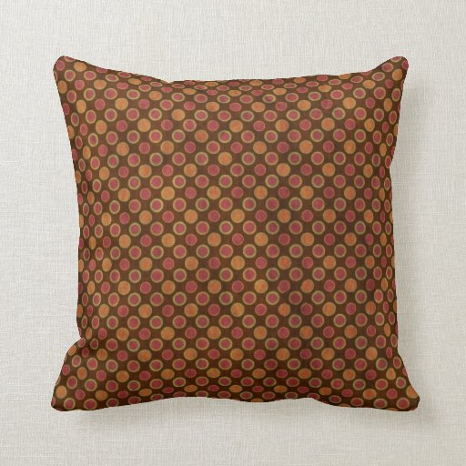 brown red american mojo throw pillows zazzle. Black Bedroom Furniture Sets. Home Design Ideas