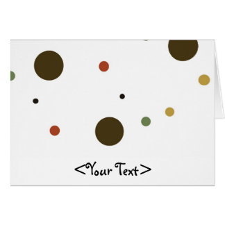 Brown Red and Green Polka Dots Stationery Note Card