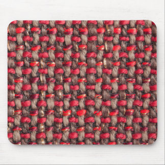 Brown, red and light brown strings mouse pad