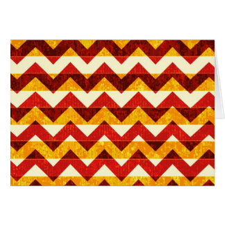 Brown Red and Yellow Indian Chevron Greeting Card