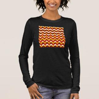 Brown Red and Yellow Indian Chevron Long Sleeve T-Shirt