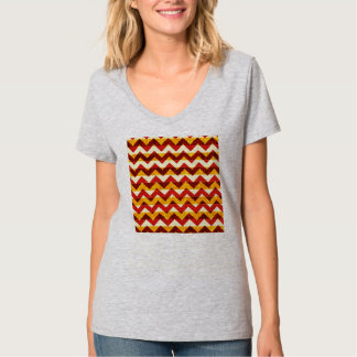 Brown Red and Yellow Indian Chevron T-Shirt