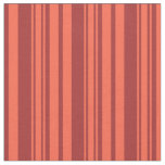 [ Thumbnail: Brown & Red Colored Striped Pattern Fabric ]