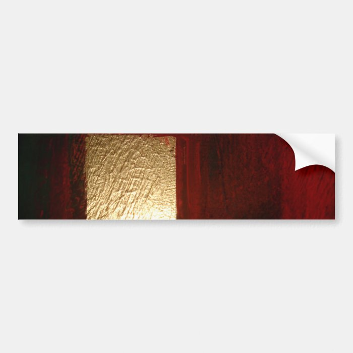 Brown Red Gold Abstract Bumper Sticker