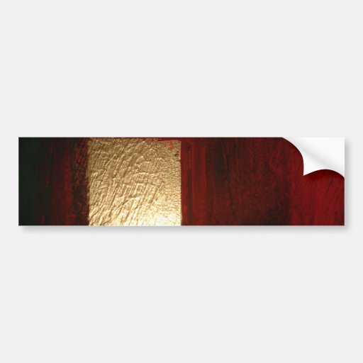 Brown Red Gold Abstract Bumper Stickers