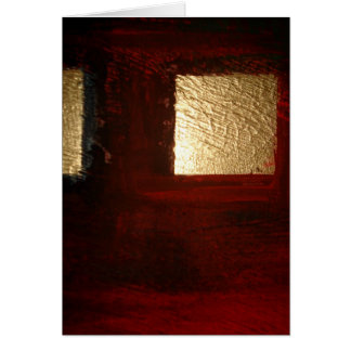 Brown Red Gold Abstract Card