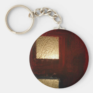 Brown Red Gold Abstract Keychain