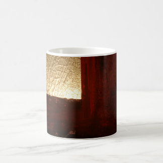 Brown Red Gold Abstract Mugs