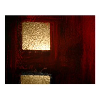 Brown Red Gold Abstract Postcard